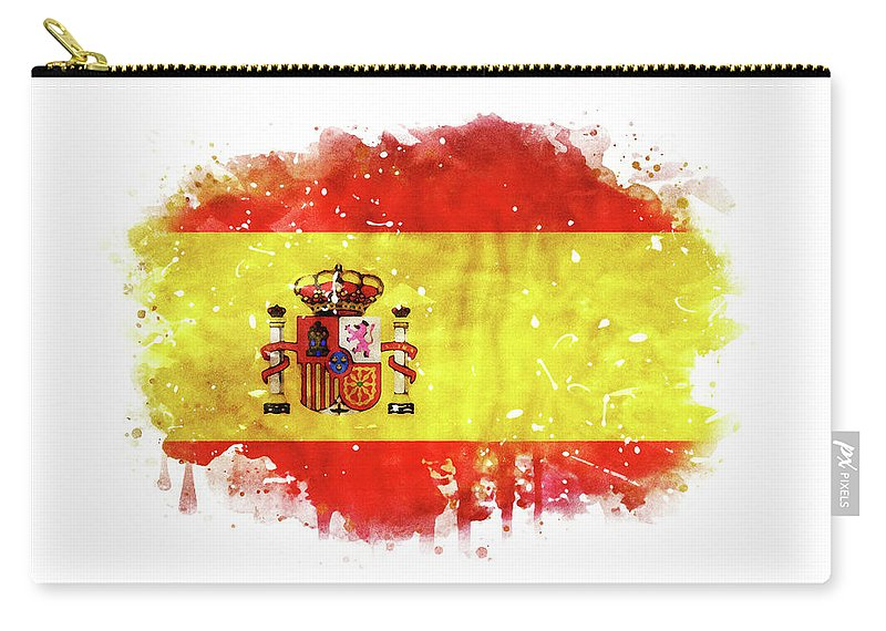 Spain National Flag Watercolor Artwork Carry All Pouch For Sale By Dusan Naumovski In 2020 Watercolor Artwork Artwork National Flag