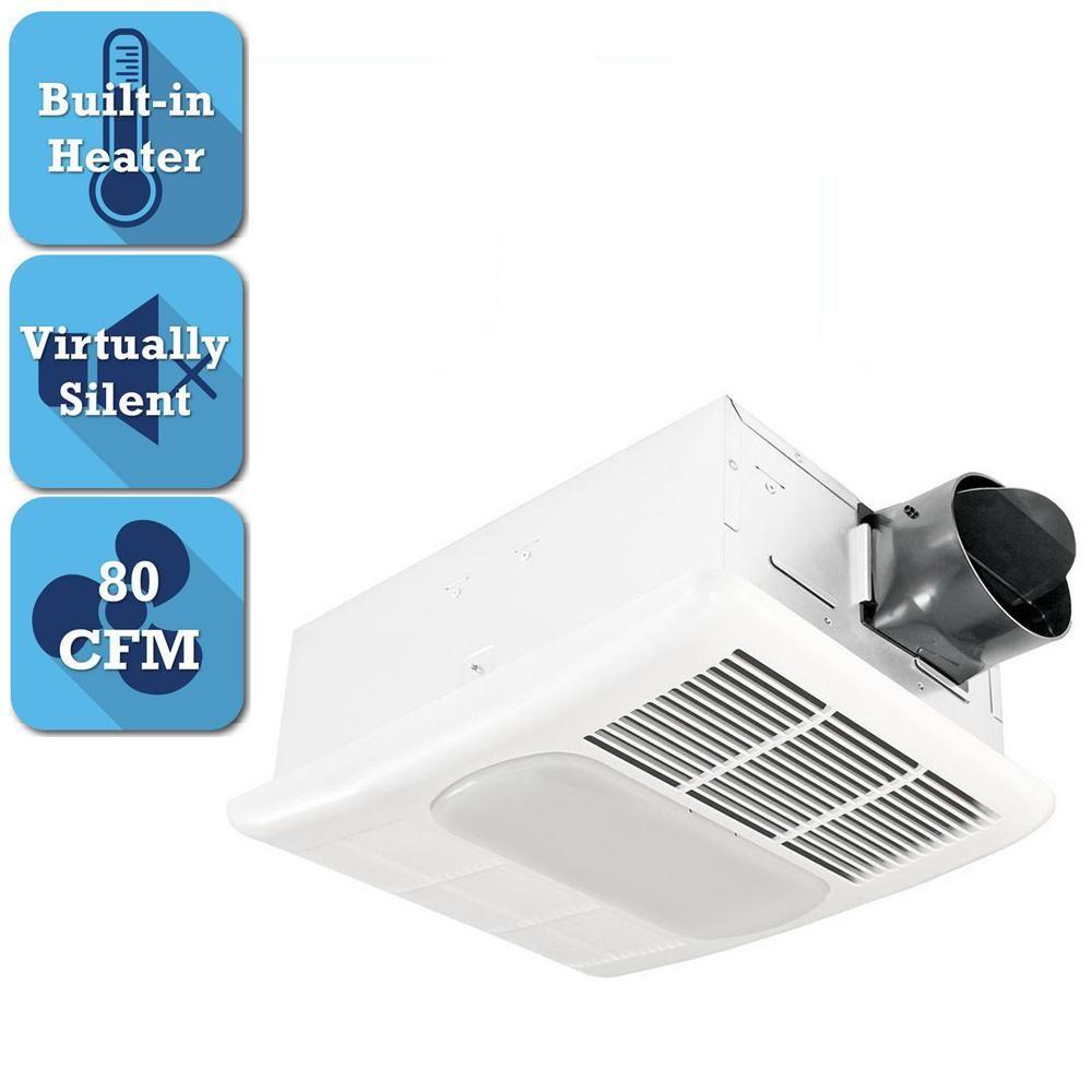 Delta Breez GreenBuilder Series 80 CFM Ceiling Bathroom Exhaust Fan w//LED Light