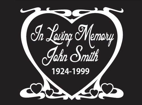 In Loving Memory Decal Heart Httpcustomstickershopcom In - Window decals in memory of