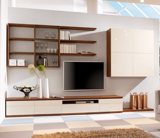 32 Stylish Modern Wall Units For Effective Storage Media Wall