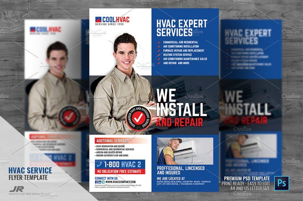 Heating And Cooling Hvac Flyer Flyer Hvac Services Flyer