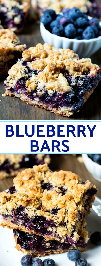 Homemade Blueberry Bars