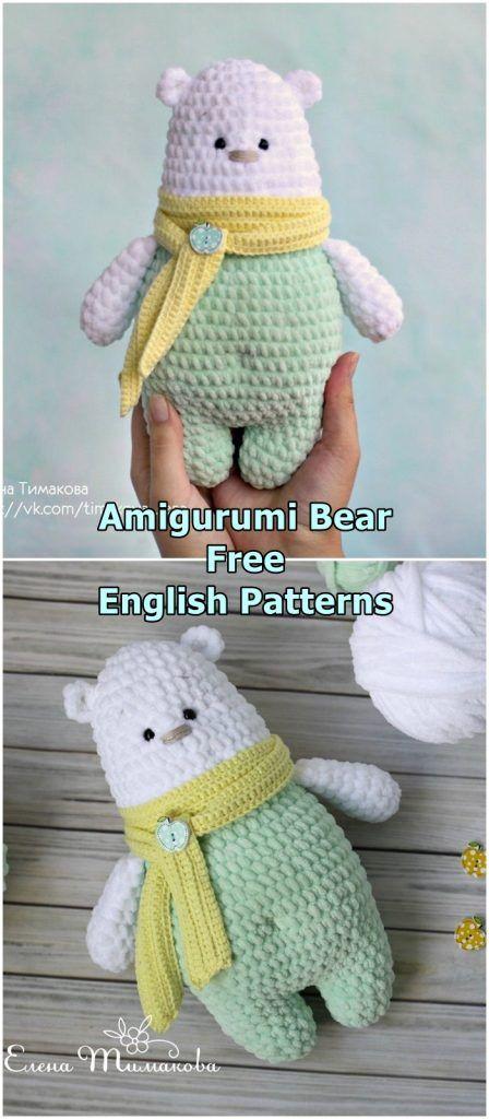 Amigurumi Polar Bear Free Crochet Pattern - Amigurumi Crochet #crochetbear