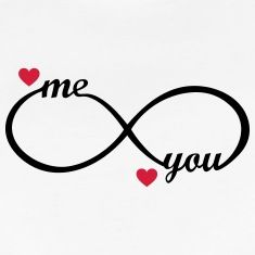Infinity Symbol You And Me Heart Love Wedding