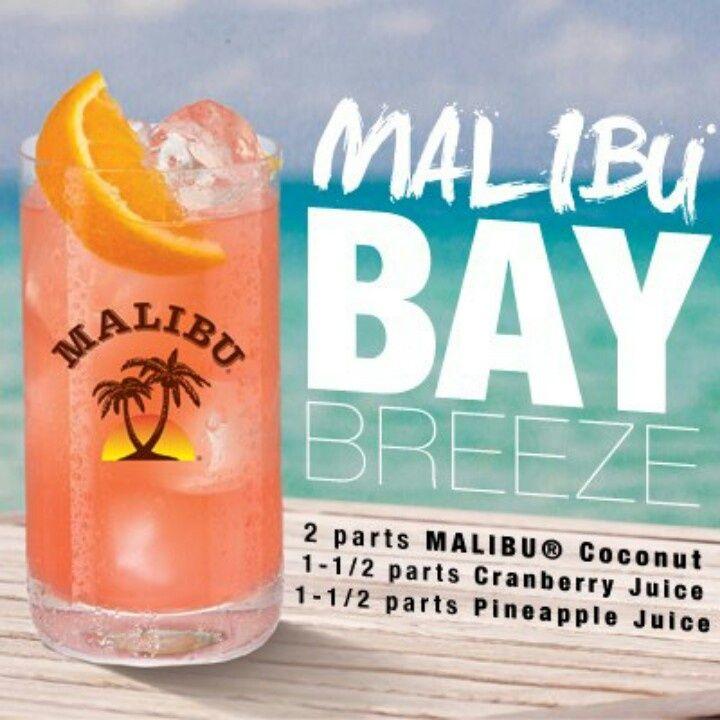 Malibu Bay Breeze Recipe Recipe Malibu Drinks Liquor Drinks Malibu Rum Drinks