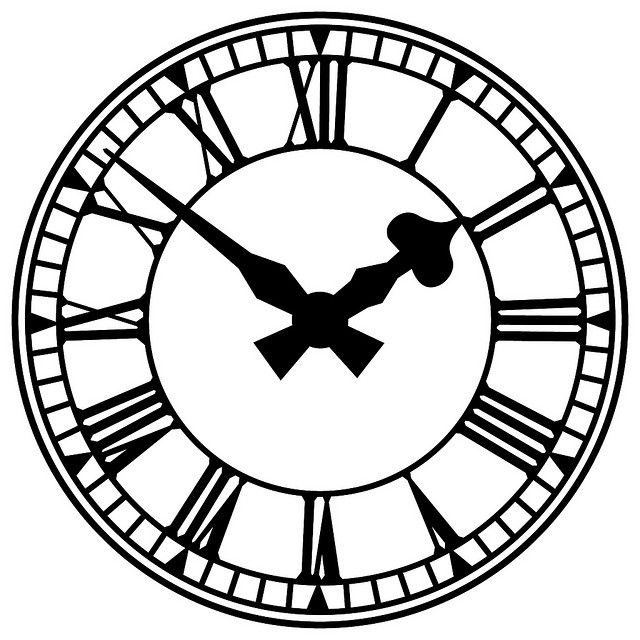 clock illustration clock faces clocks and face rh pinterest com clock clip art blank clock clipart black and white