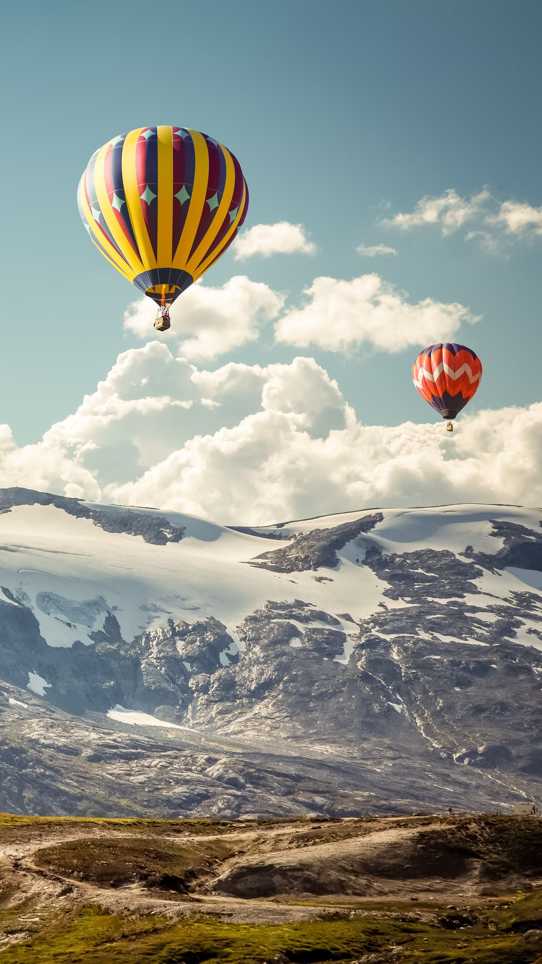 Hot Air Balloons 5k IPhone Wallpaper