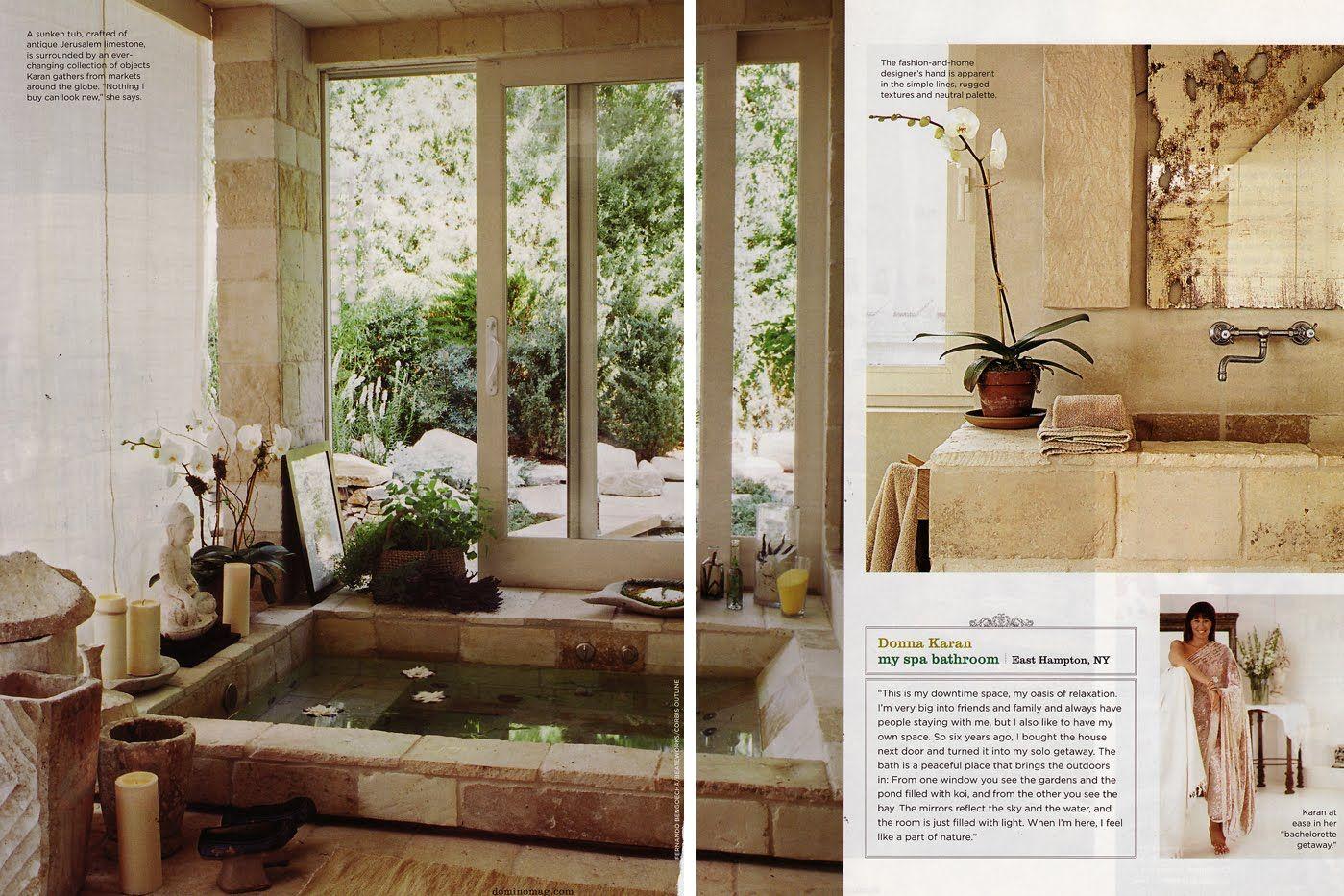 antique look spa bath all home interior ideasdonna karan\\u0027s amazing spa bathroom with sunken bath bathedonna karan\\u0027s amazing spa