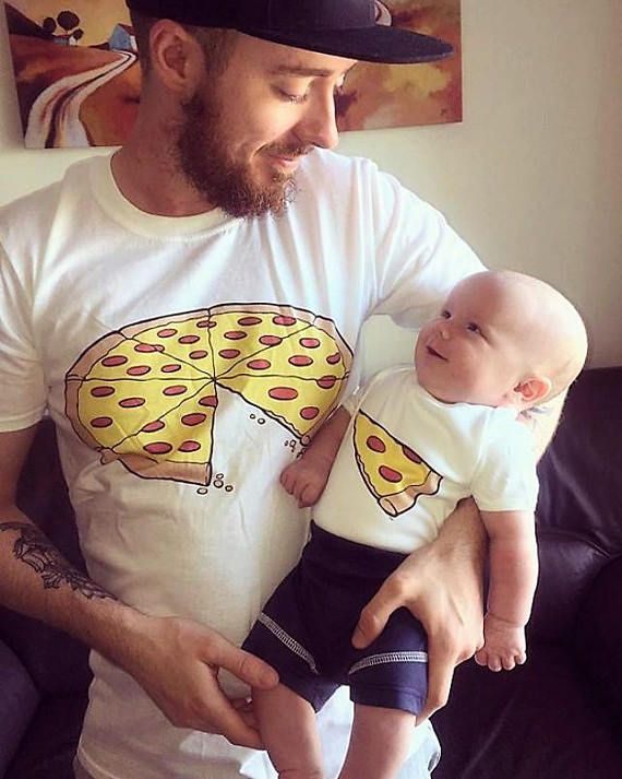 f6208f96 Pizza Slice Dad Son Matching Shirts Family Outfits Whole Pizza 1 ...
