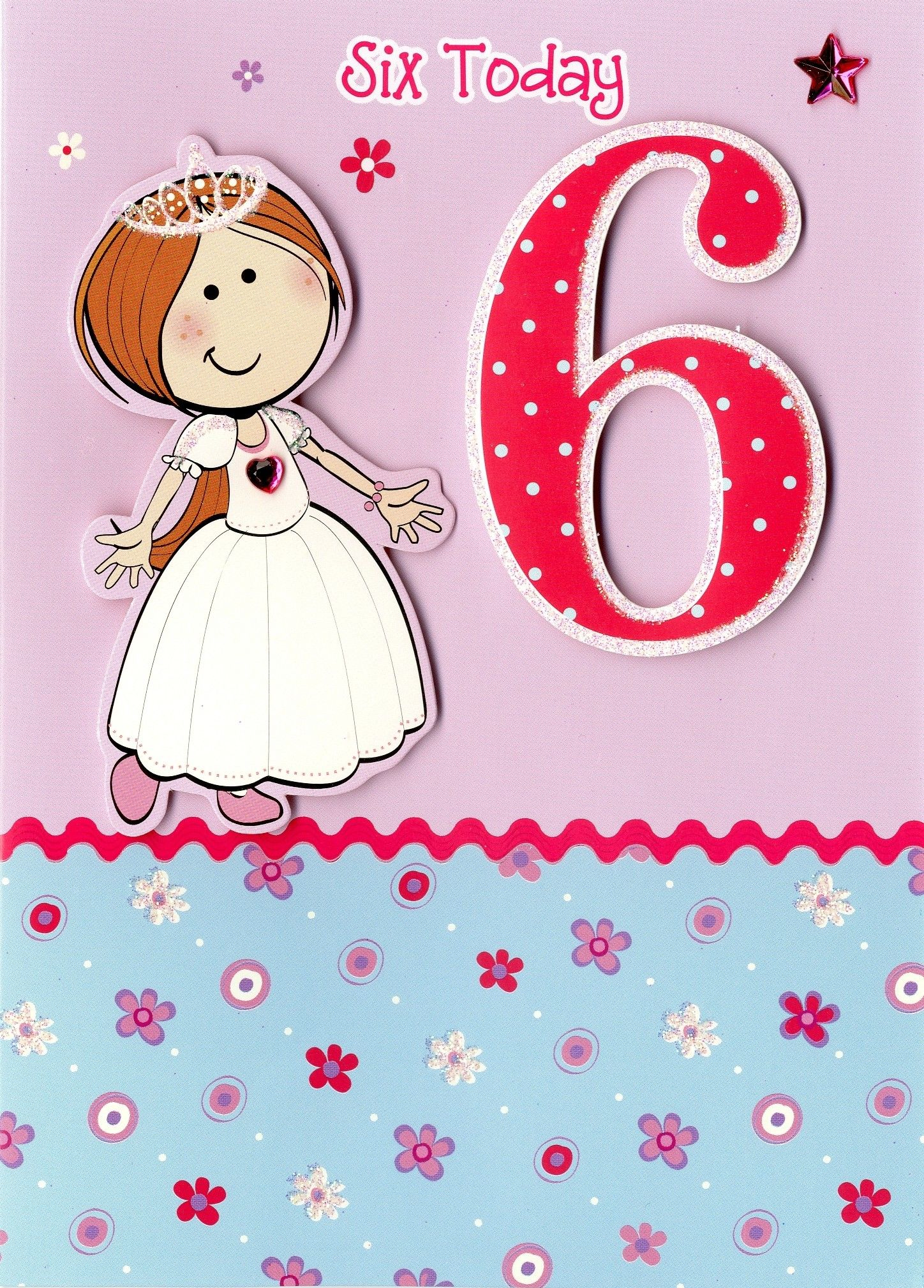 Girl age 6 birthday card princess sorry out of stock party girl age 6 birthday card princess sorry out of stock bookmarktalkfo Images