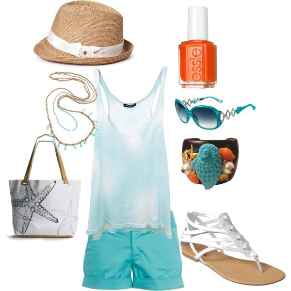 beachy keen, created by shyn-458  Clothes Casual Outift for • teens • movies • girls • women •. summer • fall • spring • winter • outfit ideas • dates • parties Polyvore :) Catalina Christiano