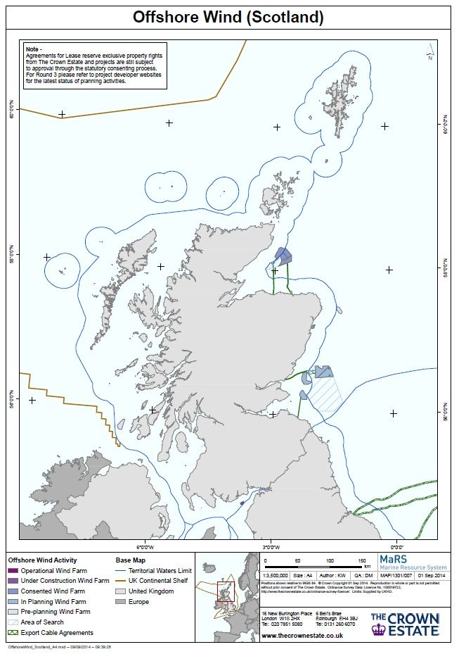 offshore wind scotland map