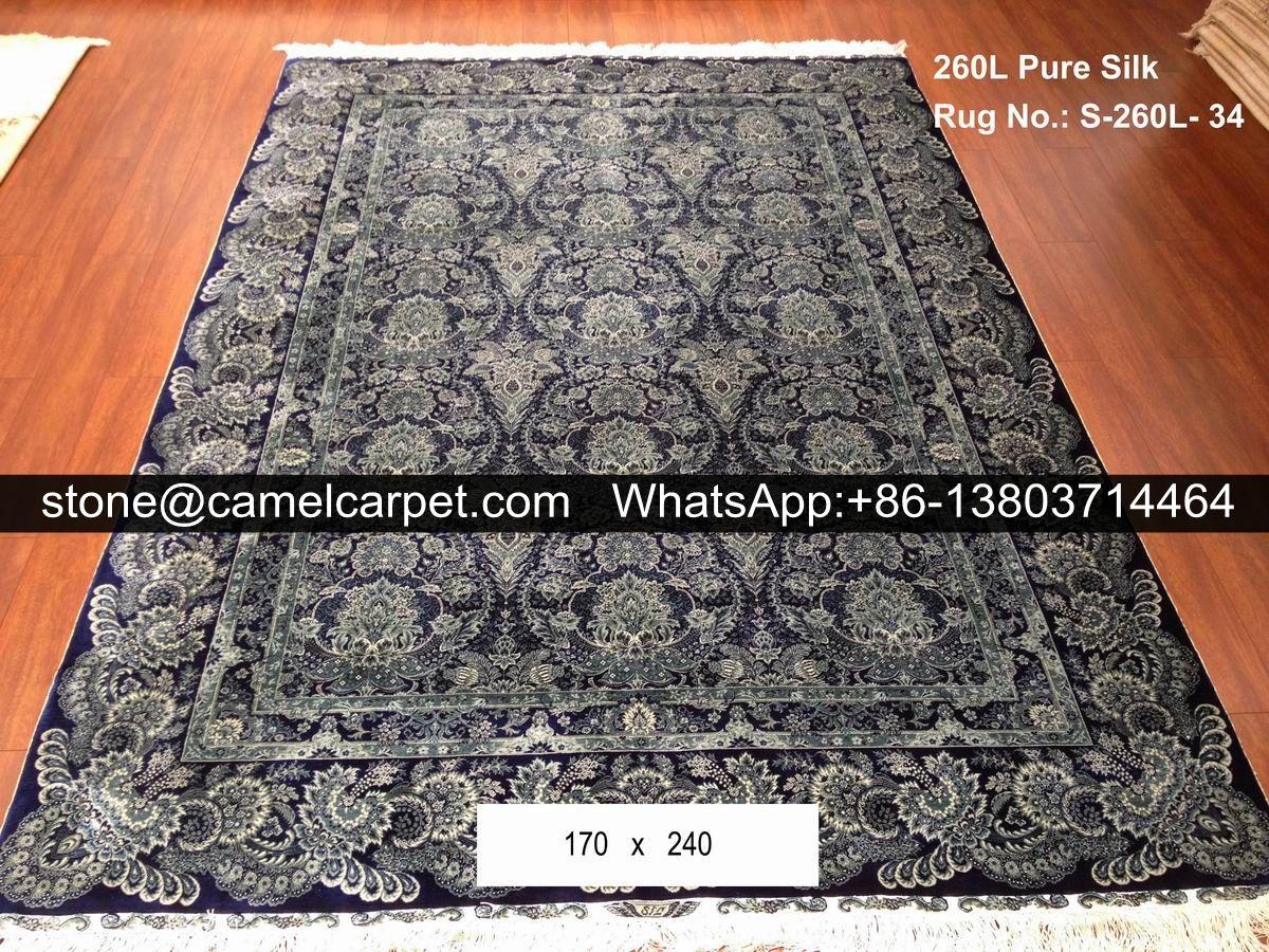 260L pure silk on silk rug  #handknottedcarpet#handknottedrug#turkeycarpet#turkeyrug