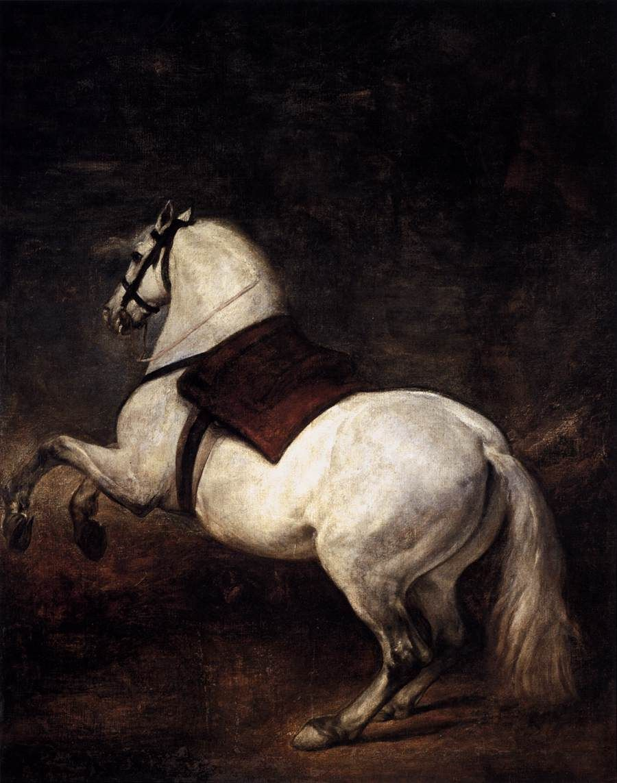 Horses In Art History Diego Velazquez A White Horse 1634 35