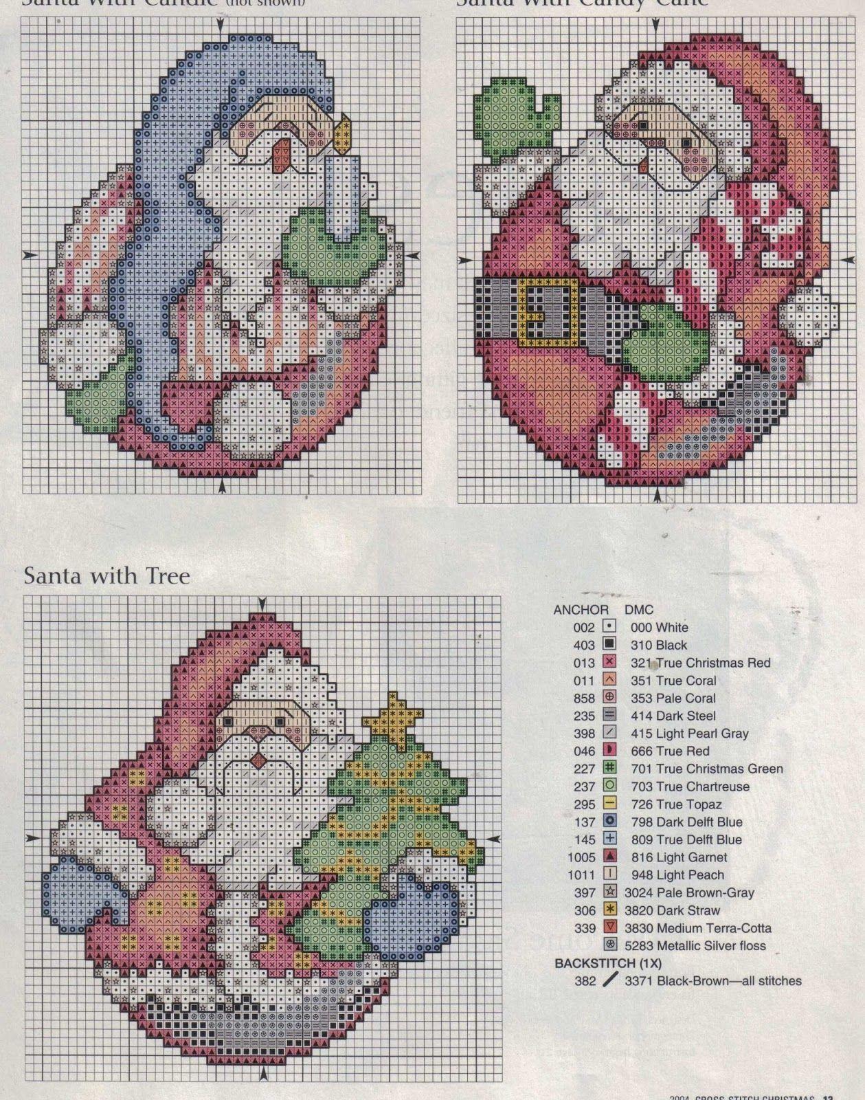 GRAFICOS PUNTO DE CRUZ GRATIS : NAVIDAD(30) | punto de cruz-navidad ...