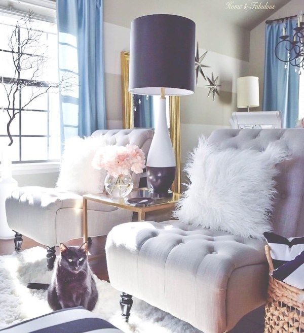 10 ways to make your living room extra glam glam pinterest maison d co maison et salon. Black Bedroom Furniture Sets. Home Design Ideas