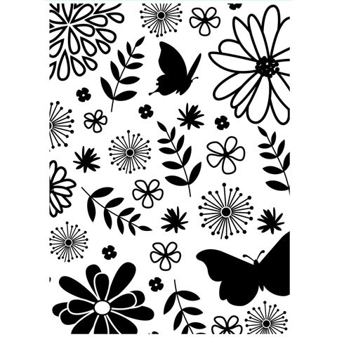 Darice® Embossing Folder - Butterfly and Floral - 4.25 x 5.75
