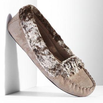 Simply Vera Vera Wang Faux-Fur Moccasin