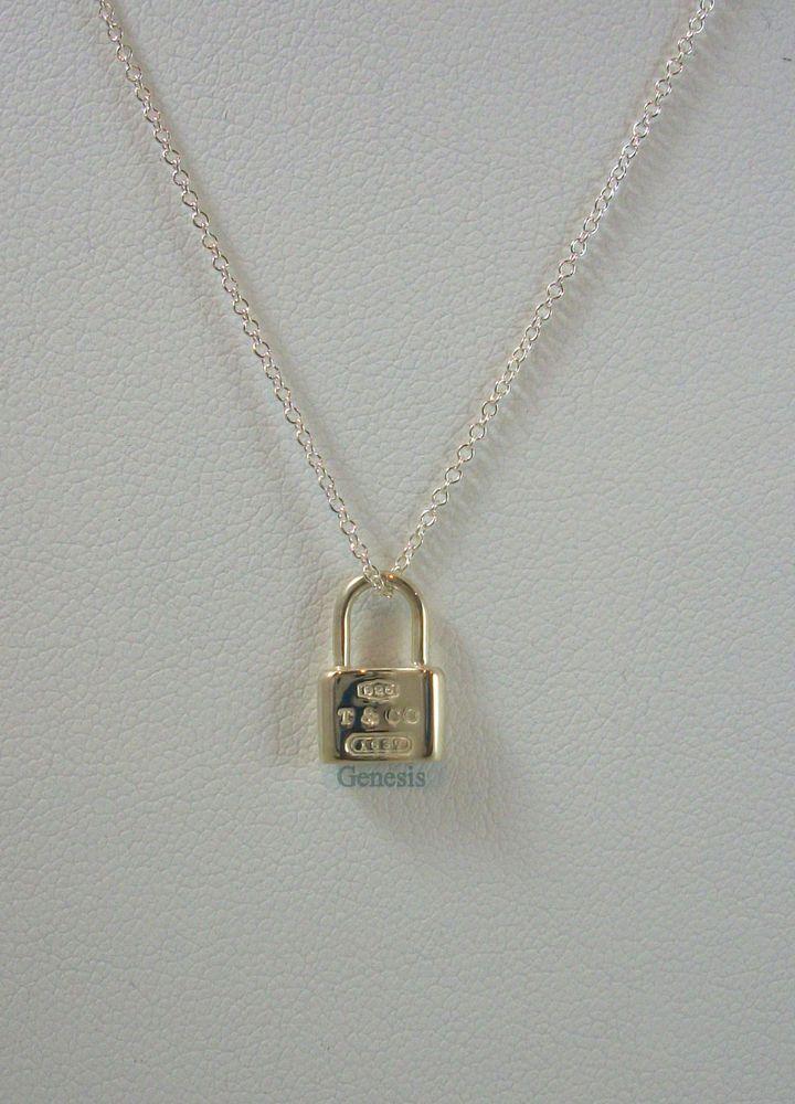 b4c8f2fe39284 Tiffany & Co. Lock Mini Pendant in Sterling Silver 16
