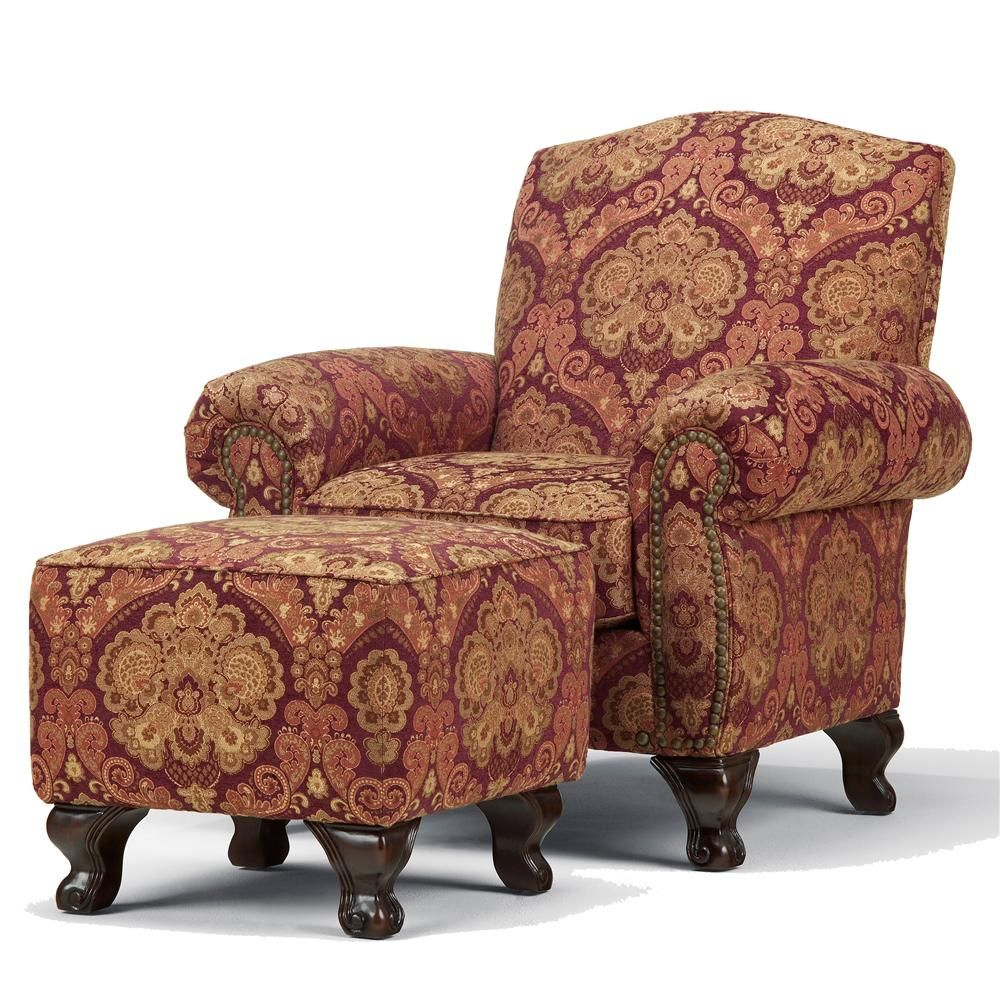 corner accent chair with ottoman