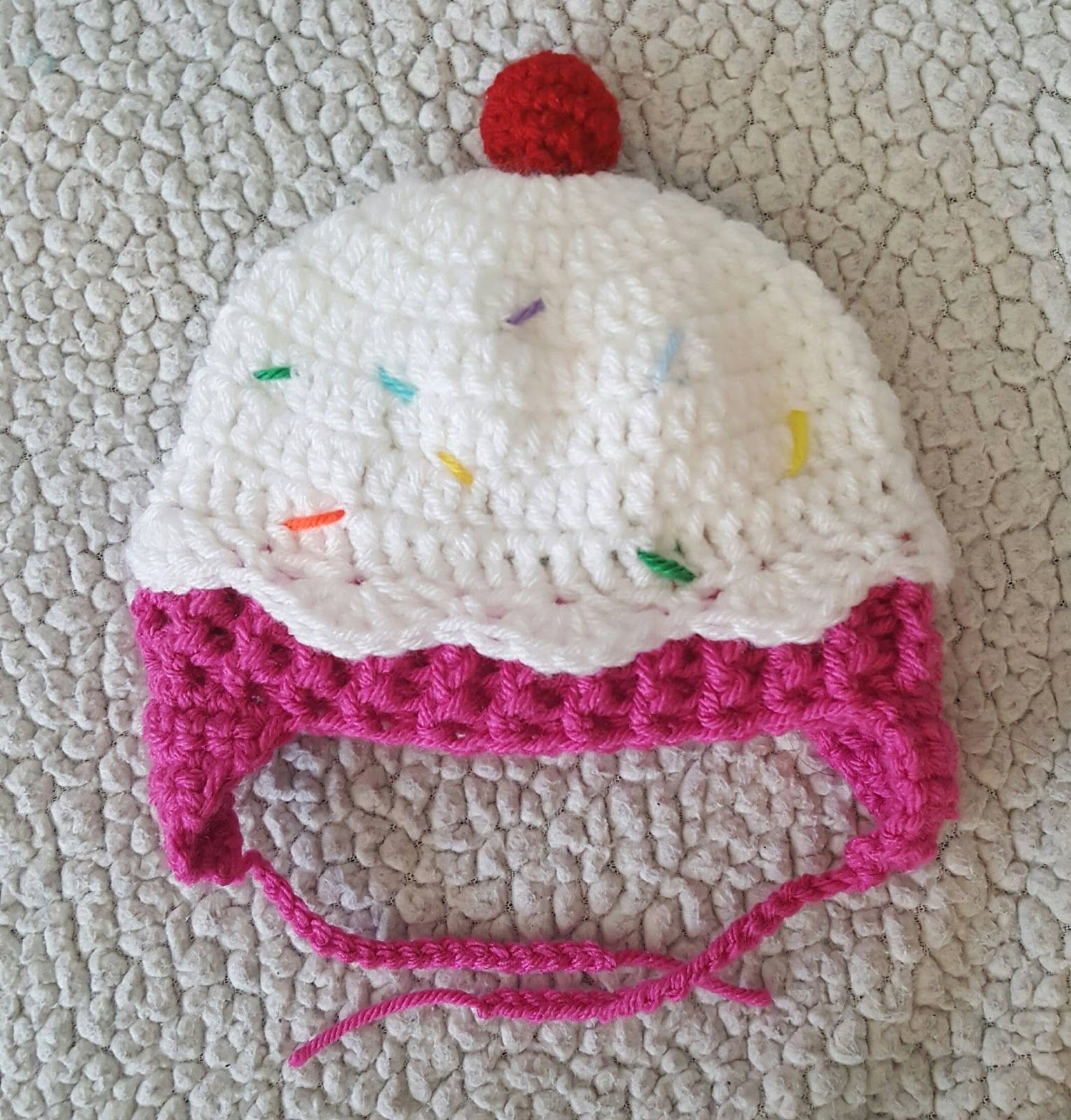 I had so much fun making this little crochet cupcake hat from i had so much fun making this little crochet cupcake hat from repeat crafter mes pattern bankloansurffo Images