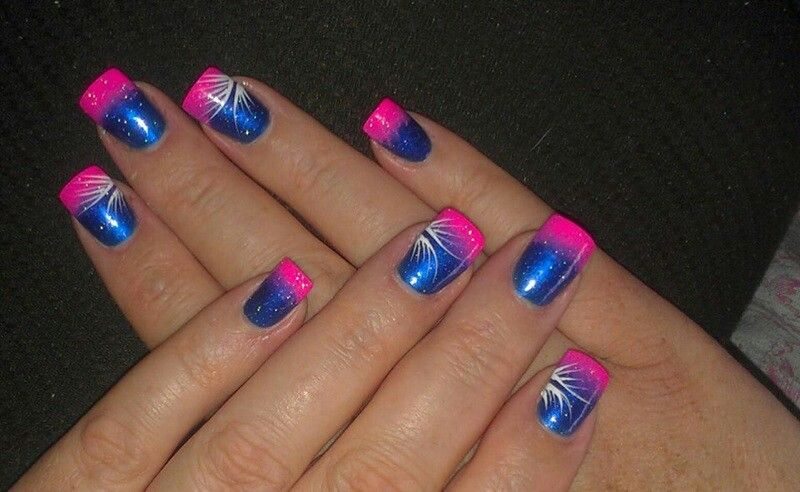 Pin By Stephanie Riggers On My Nail Art Hot Pink Nails Acrylic Nails Price Wedding Acrylic Nails