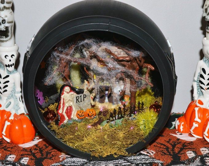 Halloween Village Display Platform for Lemax Spooky Town, Department 56, Pumpkin, Witches #halloweenvillagedisplay