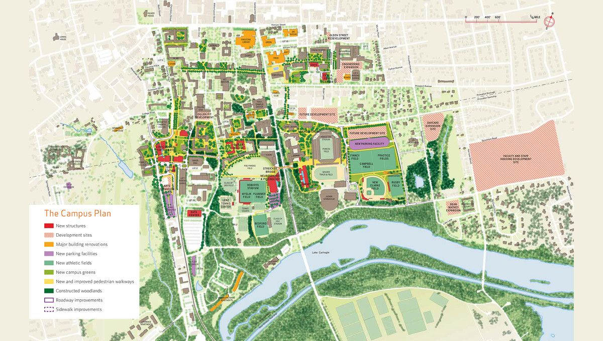 Princeton University Campus Map, Princeton New Jersey ...