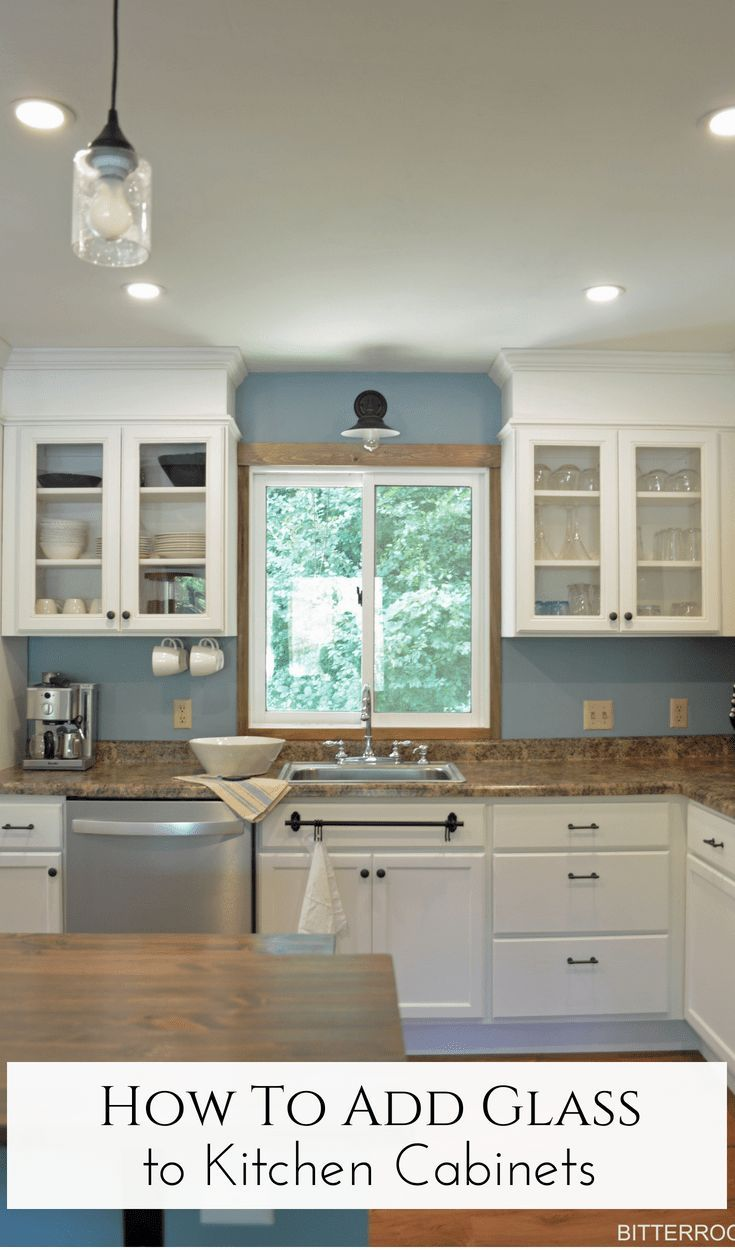 How To Add Glass To Kitchen Cabinet Doors Best Of Diy Crafts Etc