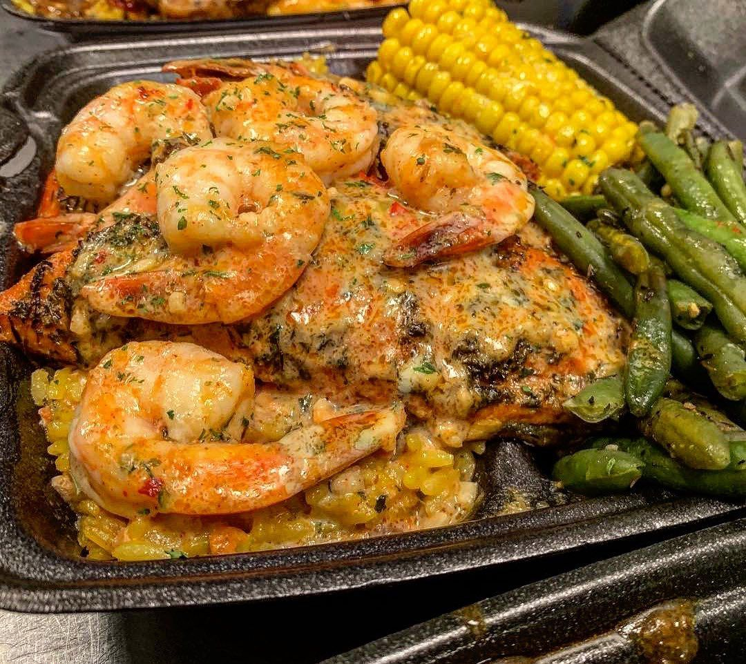 Cupcake Kitchen Houston On Instagram Grilled Salmon And Shrimp