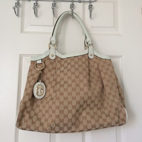 2510e6773b20 Authentic large Gucci Sukey bag w/ guccisima trim Very clean with no stains large  Gucci