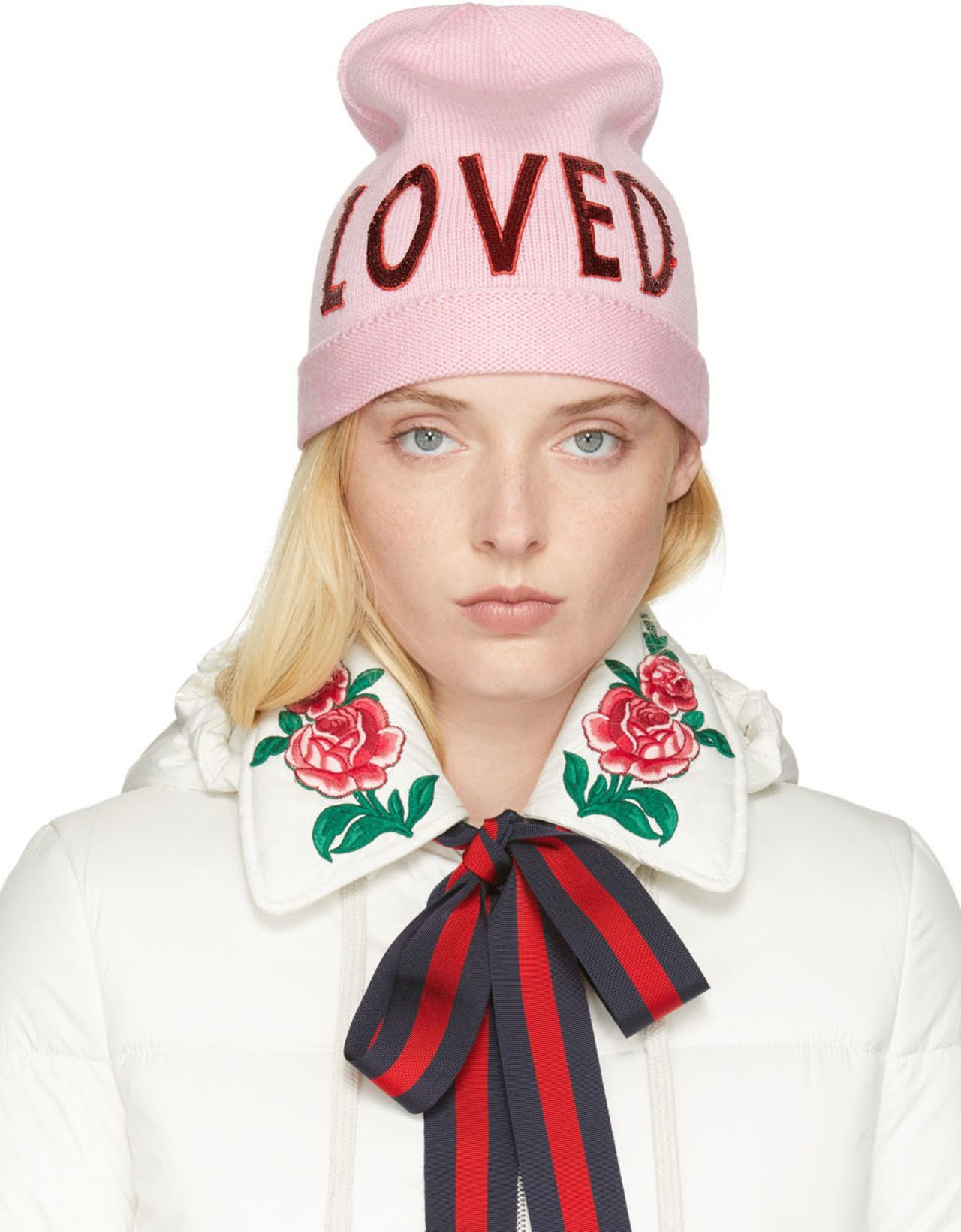 Gucci - Pink Wool  Loved  Beanie  5dc5e575bb