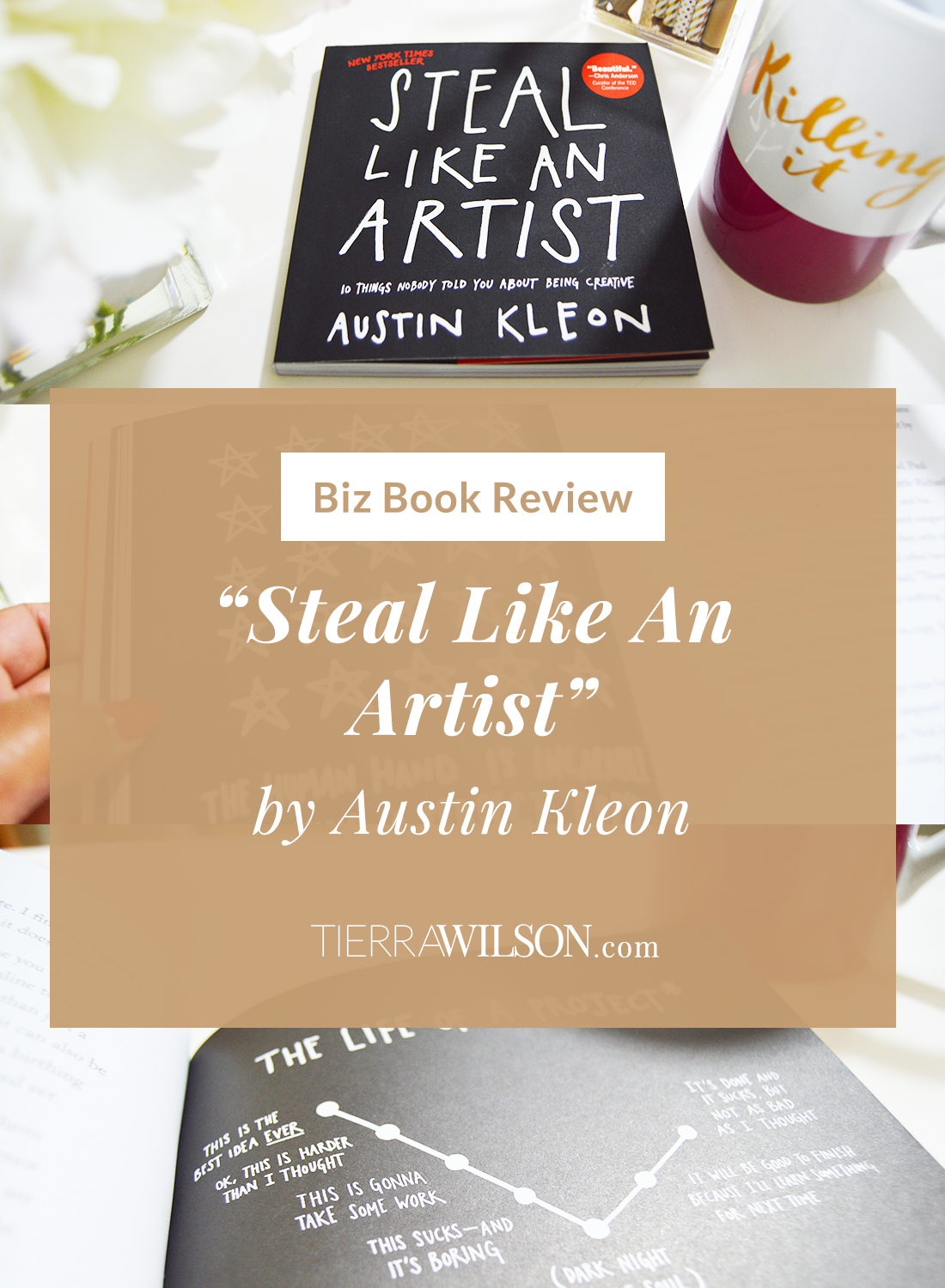 """Don't think that the title is a play on words!  It's not. Austin Kleon really wants you to steal stuff, and I totally agree with him. Learn more about the book """"Steal Like An Artist"""" by Austin Kleon, an illustrative letter to creatives of the digital age to not reinvent the wheel, be creative, and be ourselves."""
