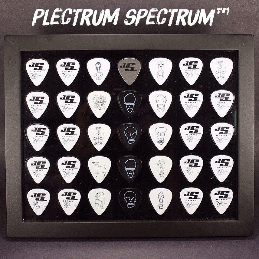 "WHITE Guitar Pick Display Insert 8/"" x 10/"" Horizontal Holds 35 Guitar Picks"