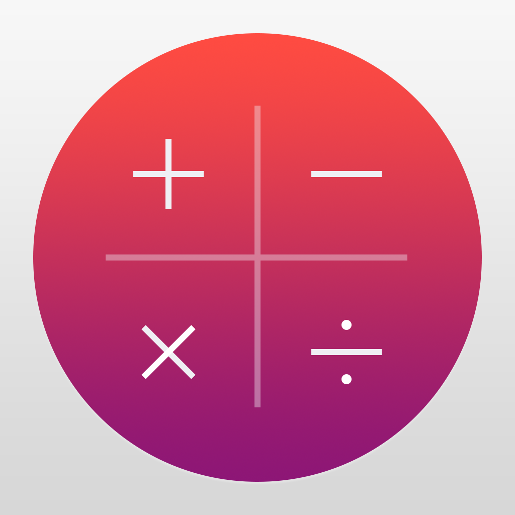 Numerical Calculator Without Equal App Icon Design Ios Icon Iphone Icon