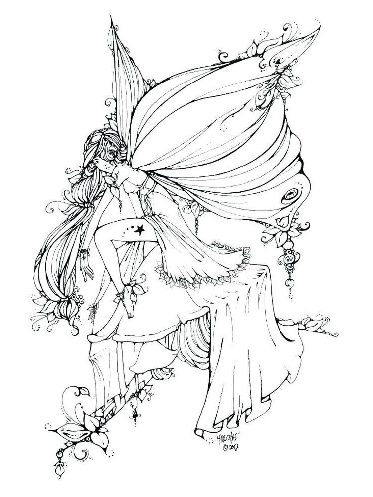 Fairy Coloring Book Pages For Adults Fairy coloring