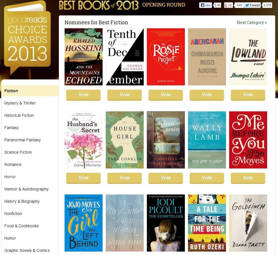 2013 Good Reads Fiction