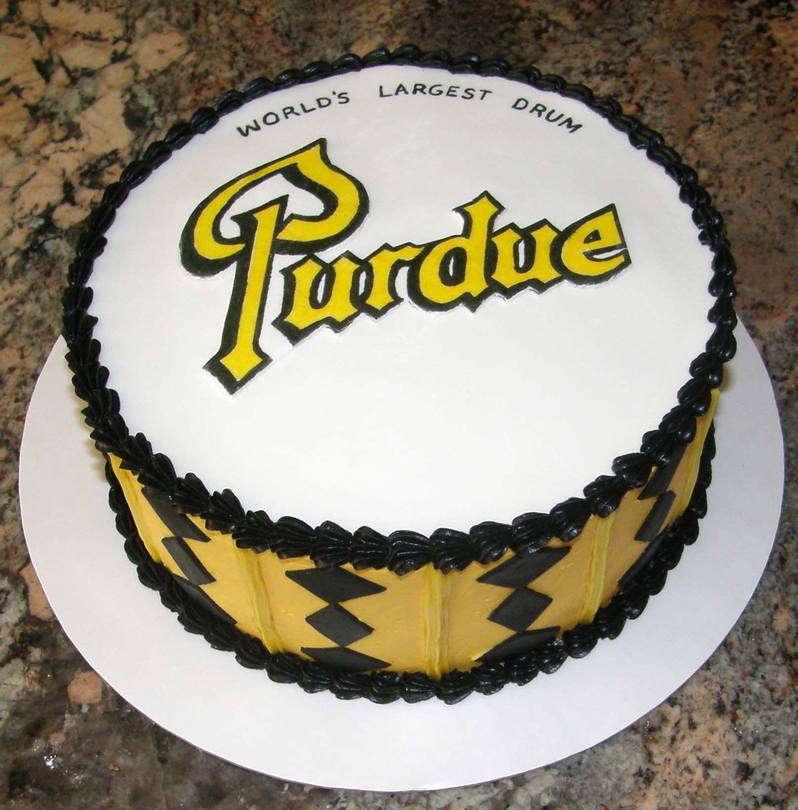 Color printing purdue - Purdue Football Boilermakers Cake