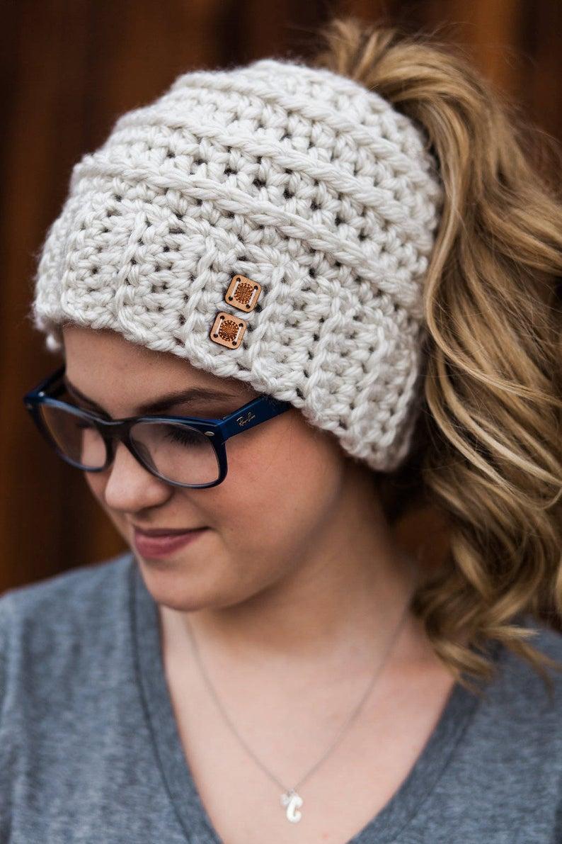 Women's Messy Bun Hat #kidsmessyhats