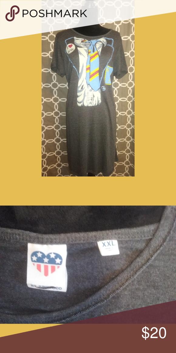 0867778c7 PLUS SIZE -Junk Food I Love AC/DC T-Shirt Dress PLUS SIZE By Junk Food I  Love AC/DC Gray T-Shirt Dress Size XXL NWOT Junk Food Clothing Dresses Midi