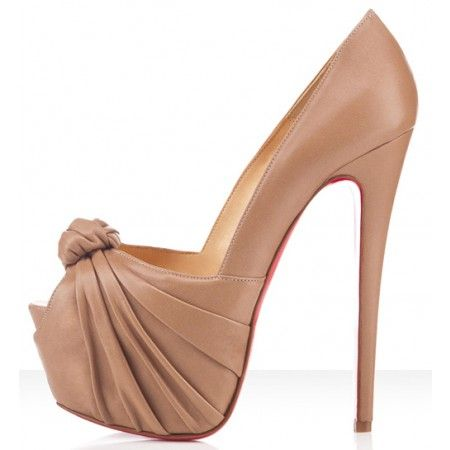 Christian Louboutin Lady Gres Peep toe 160mm Heels In Beige New Style For Sale