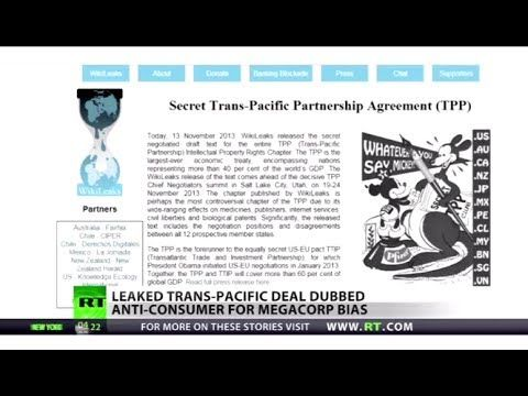 New Wikileak Trans-pacific trade deal revealed, dubbed anti