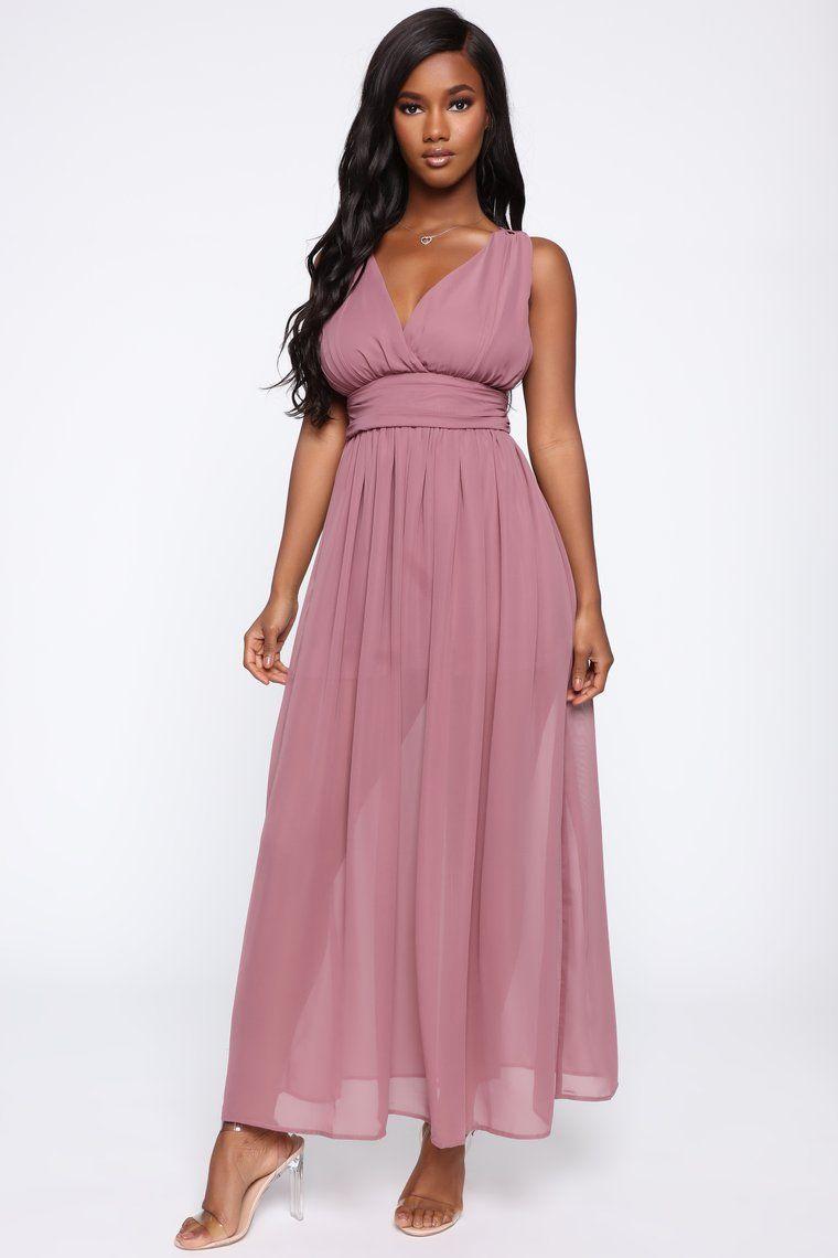 Risky Affair Maxi Dress Mauve Dresses, Mauve dress
