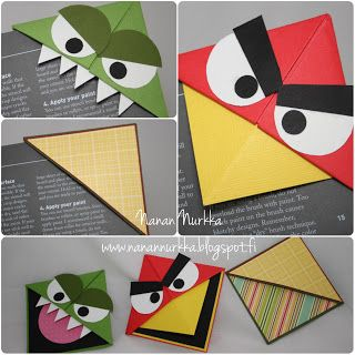 Nana's Nook: origami bookmarks (Angry Birds) NOT in English, but I was able to use Google translate to make some sense of the website.