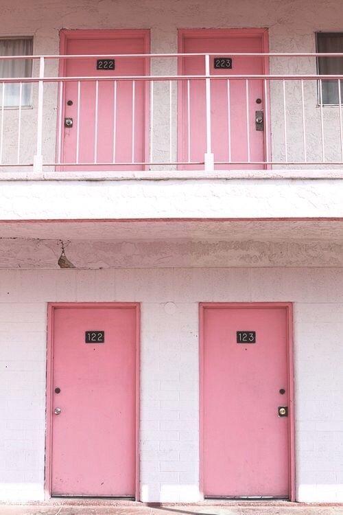 Pink Doors   Fun City, The Pink Motel In Las Vegas.