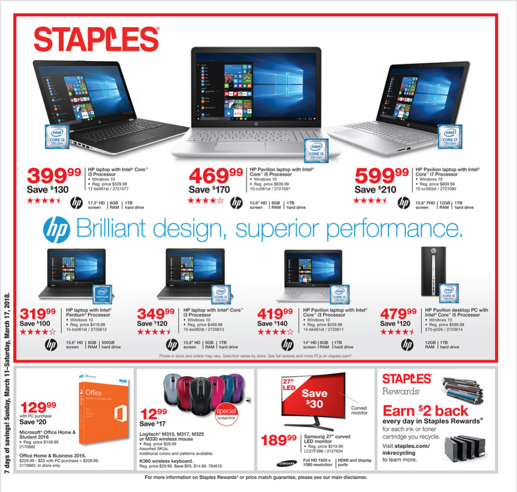 Staples weekly ad coupons