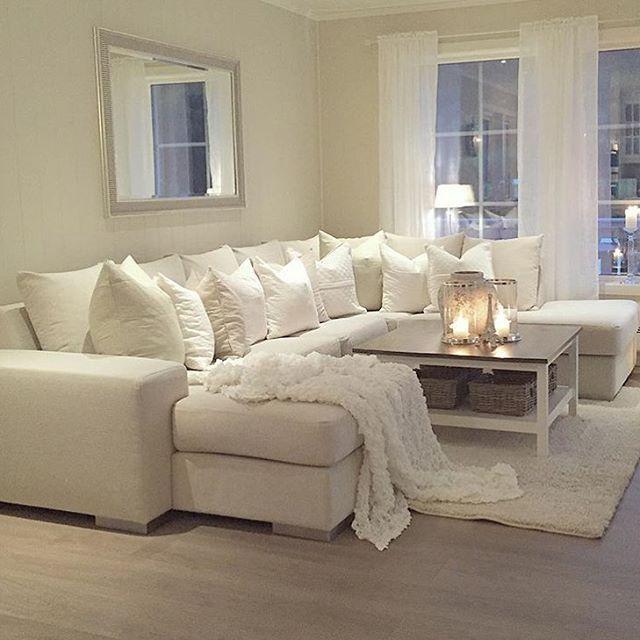 Elegant Interior Inspiration On Instagram Credit Elikatrinee White Furniture Living Room Living Room Decor Cozy Bright Living Room