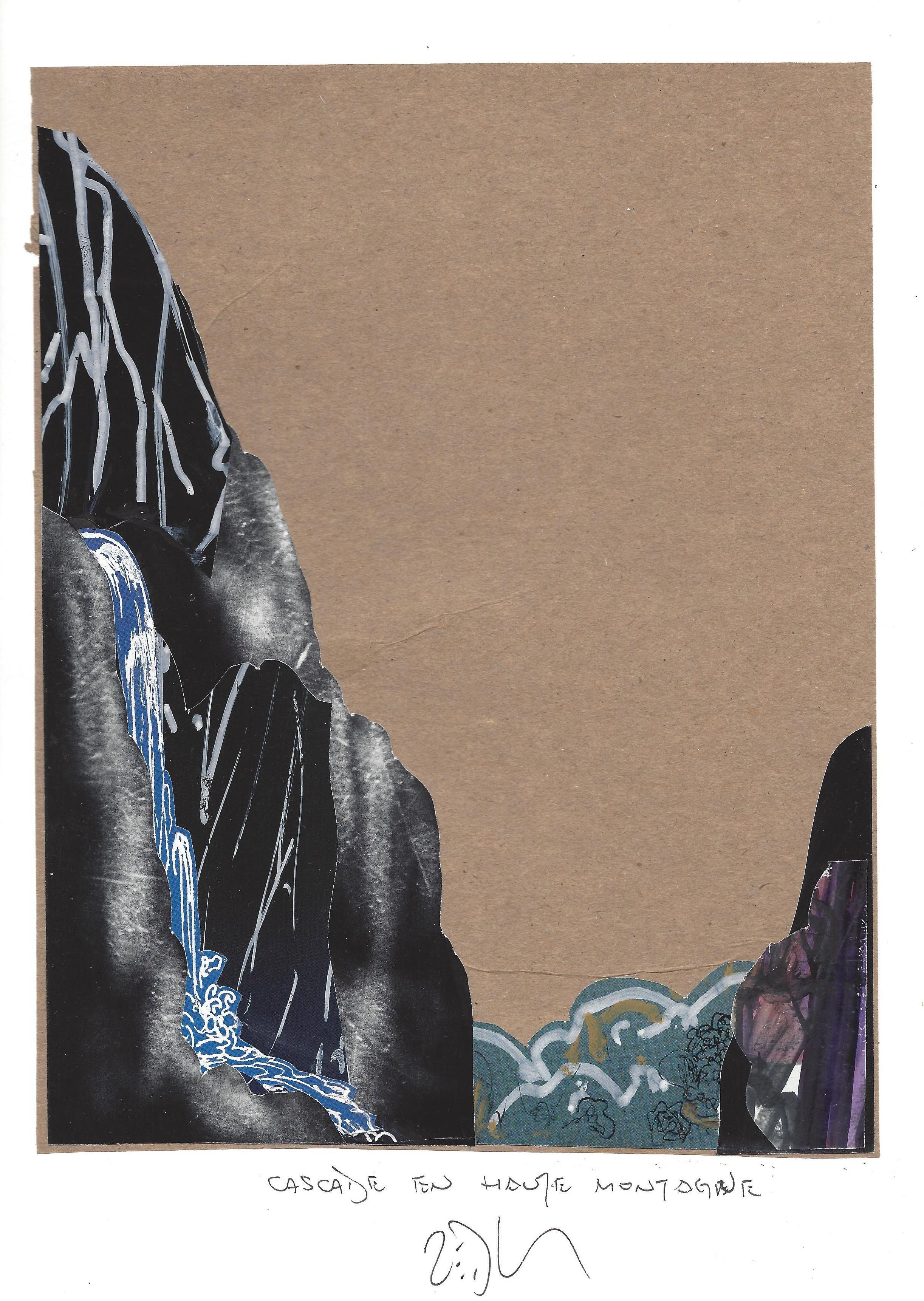 « High mountain cascade – Cascade en haute montagne »  Frank Eric Zeidler