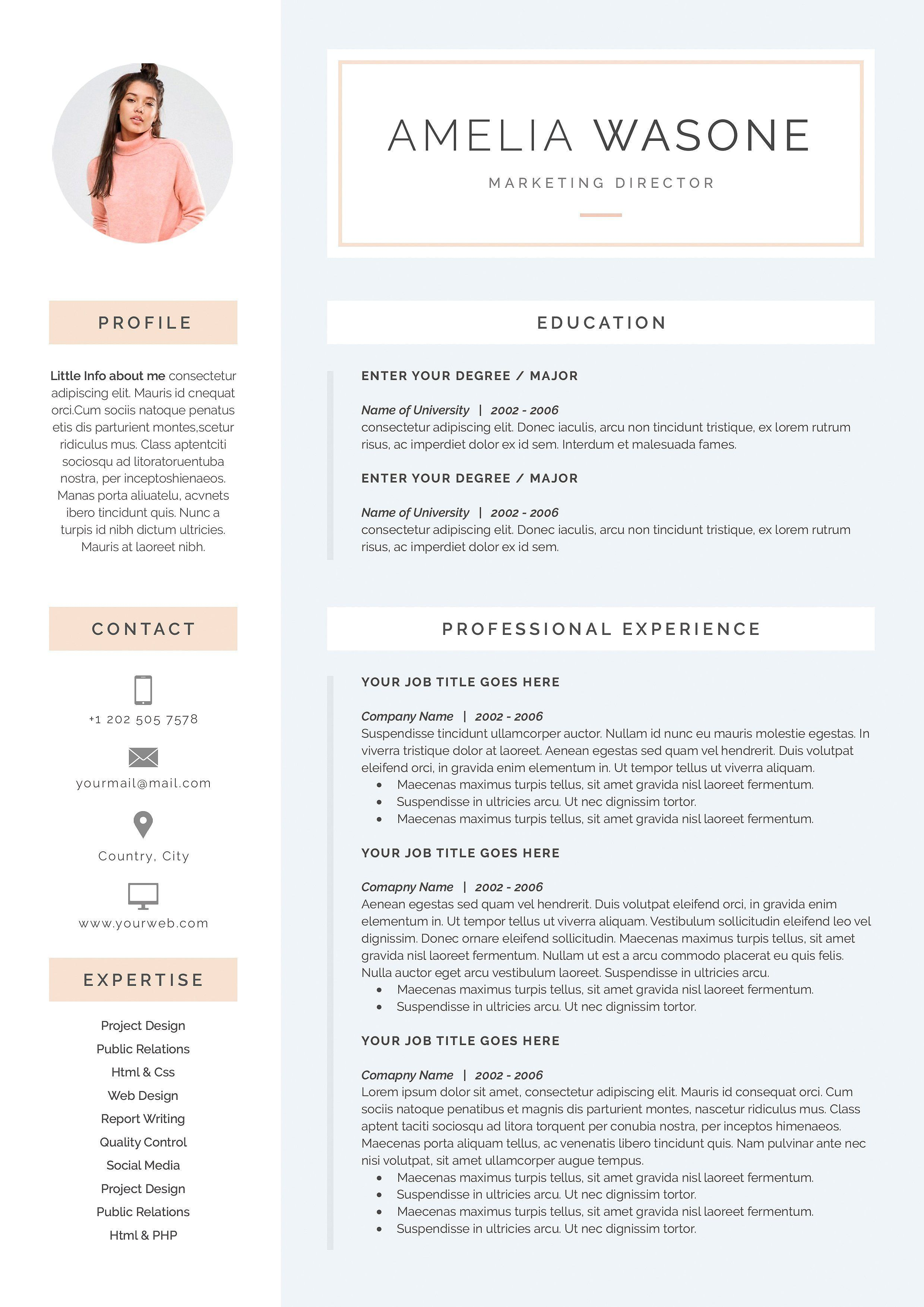 Word Resume Cover Letter Template By Demedev On Creativemarket Ad Cover Letter For Resume Resume Cover Letter Template Resume Design Template