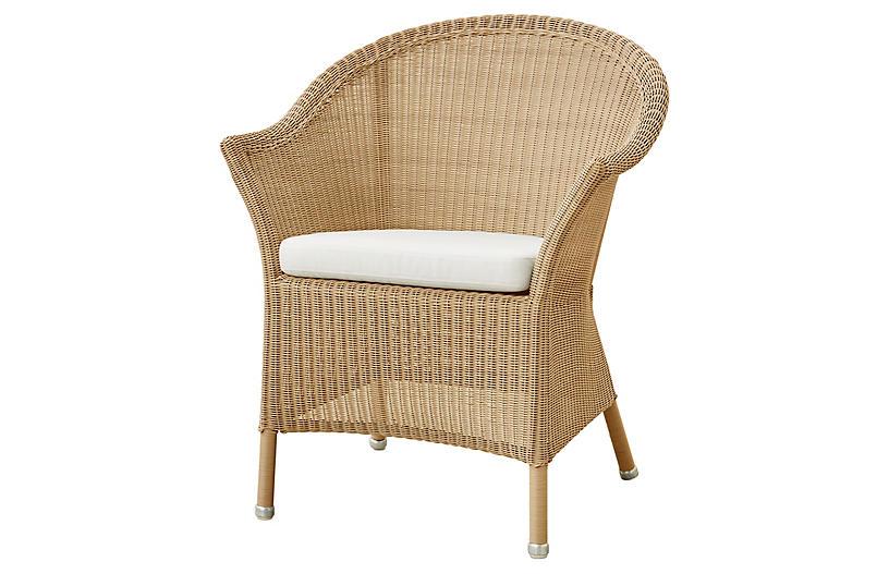 Lansing Armchair White Sunbrella Cane Line Round Wicker Chair Futon Bed